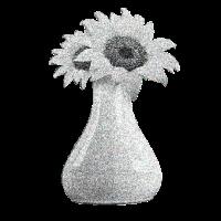 Vintage Blume schwarz
