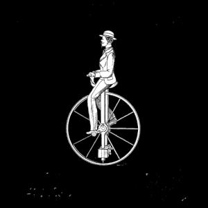 Vintage Fahrrad Old School Minimalistisch Geschenk