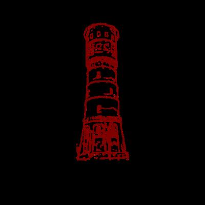 Gütersloh roter Wasserturm - Das Wahrzeichen von Gütersloh ist der Wasserturm. Motiv mit dem Wasserturm und einem typisch ostwestfälischen 'Da, wo ich wech komme'! - paderborn,Stadt im grünen,Rheda-Wiedenbrück,Pavenstädt,Paderborn,Ostwestfalen Lippe,Ostwestfalen,OWL,NRW,Kattenstroth,Isselhorst,HVP,Gütersloh,Bielefeld,Avenwedde,A2