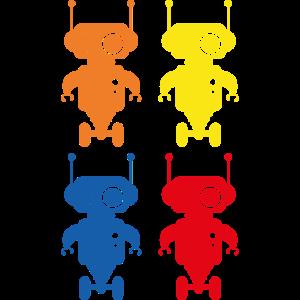 Retro Robots Roboter