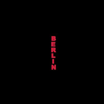 Berlin - Schriftzug BERLIN aus den Namen der Bezirke entwickelt - rot,deutschland,berlin,Schwarz,Schrift,Hauptstadt