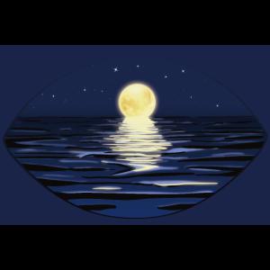 Poster / Poster | Sommernacht am Meer