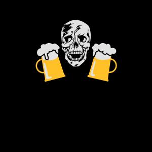 86 Totenkopf Skull Mass Bier German Drinking Team