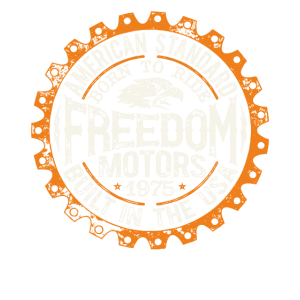 Biker Shirt Freedom Motors American orange