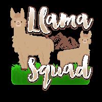 Llama Squad - Lama Südamerika Spucken Zoo Herde
