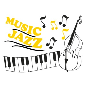 music jazz con piano e contrabbasso