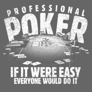 Professionel poker hvid (oldstyle)