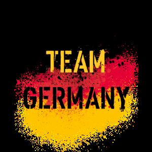 49 Team Germany Deutschland Fahne Spritzer