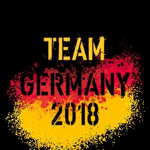 50 Team Germany 2018 Deutschland Fahne Spritzer