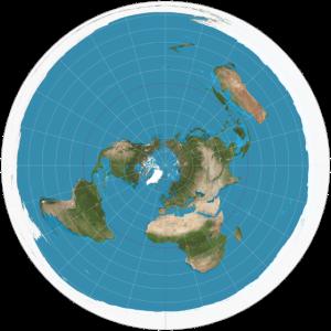 Flache Erde Karte
