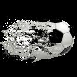51 Fußball Ball fliegt Spritzer Splash Farbkleckse