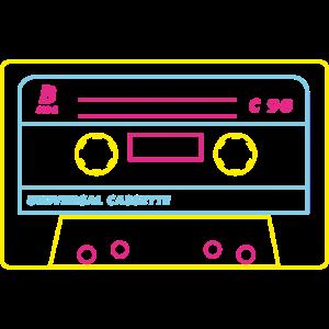Kassette Audio 80s / Neon