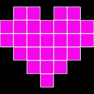 Pink Pixel Herz