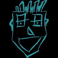 Zeichnung Mann Skizze Lachen