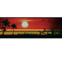 Sunset Art Fun-Shirt