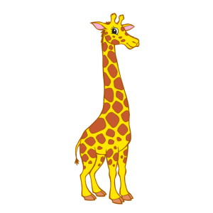 Giraffe - Niedliche Giraffe