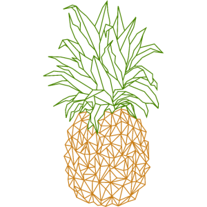 Geometrische Ananas