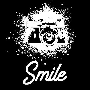 Smile Retro Kamera Bitte Lächeln