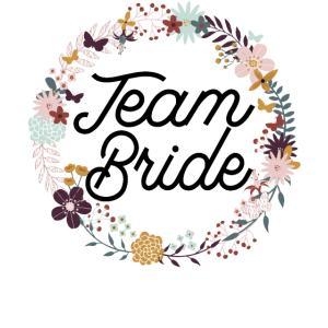 Team Bride Purple Floral Wreath