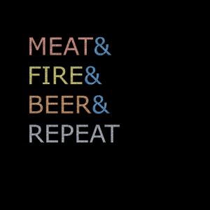 Fleisch Feuer Bier und wiederholen Pullover Hoodie