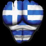 Griechenland Flagge Gerippt Muskeln