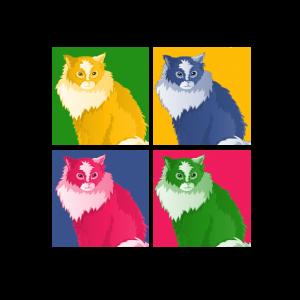 Katze Pop-Art