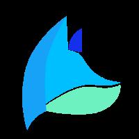 Fuchs blau