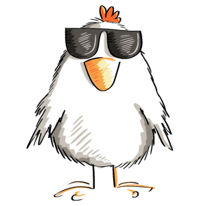 Huhn mit cooler Sonnenbrille - Hahn - Gockel