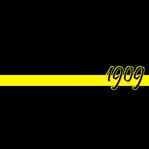 1909 mit gelbem Balken