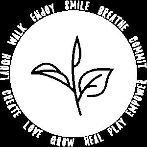 Lächeln atmen Liebe (weiß)