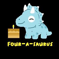 4. Geburtstag Birthday Boy Dinosaurier Vier