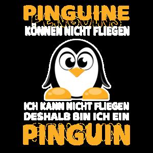 Pinguine können nicht fliegen T-Shirt Geschenk