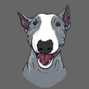Happy Bull Terrier Blue