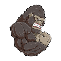 Gorilla At The Gym - Training Fitness Muskeln