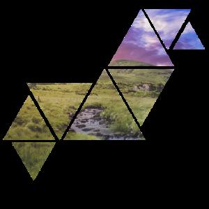 Dreiecks Landschaft