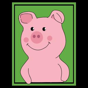Schwein - Schweinchen - Froh Glück Glücksschwein