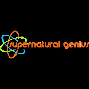 supernatural genius - orange Schrift