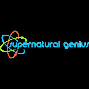 supernatural genius - blaue Schrift