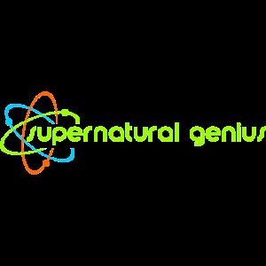 supernatural genius - grüne Schrift