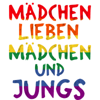 maedchen lieben maedchen und Jungs Pride Shirt