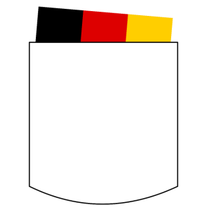 Deutschland Karte - Brusttasche