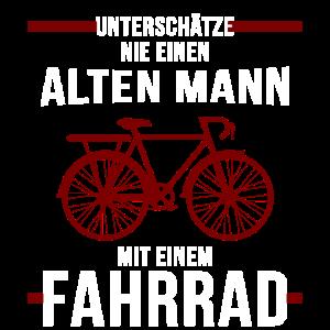 Alter Mann Fahrrad