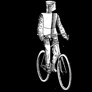 Vintage Ritter auf Fahrrad Old School Retro Design