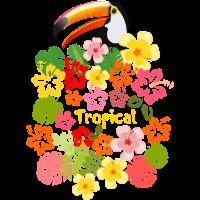 Sommer Tukan Blumen Hawaii Urlaub Hibiskus Blüten