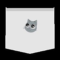 KITTY FAKE POCKET TEE - POCKET MONSTER - CAT