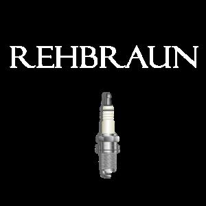 """Motorad-Shirt mit Zündkerze und schrift """"Rehbraun"""""""