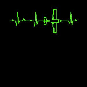 Flugzeug EKG Herzschlag