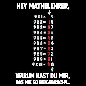 Mathe Mathelehrer nie beigebracht Geschenk