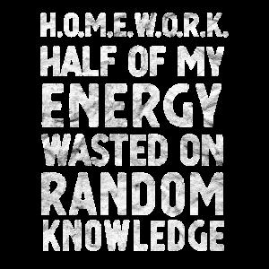 Hausarbeit Die Hälfte meiner Energie Geschenk