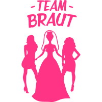 Team Braut Silhouette